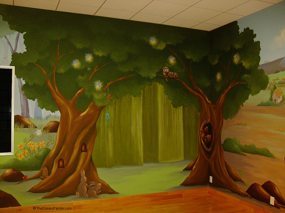 The dream painter for Enchanted forest mural