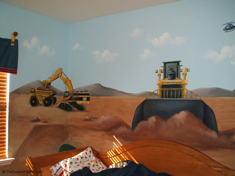 the dream painter construction site mural